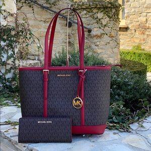 NWT Michael Kors Sm tz tote handbag&wallet